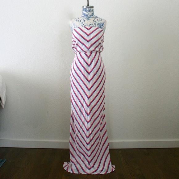 348e0696e3 Strapless Striped Maxi Dress. M 5b73a1fed6dc529185b8c5ba